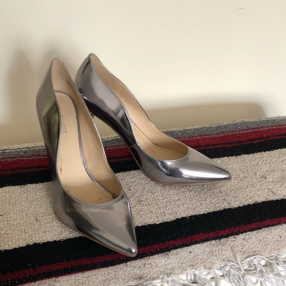 Nine West Shoes | Metallic Silver Pumps | Poshma
