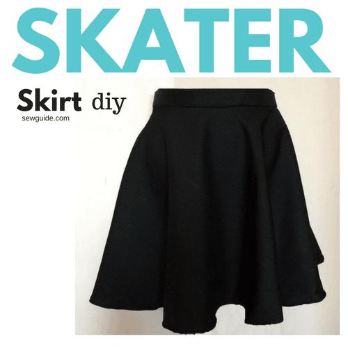 Make a Skater Skirt { DIY Pattern & tutorial   How to make skirt .