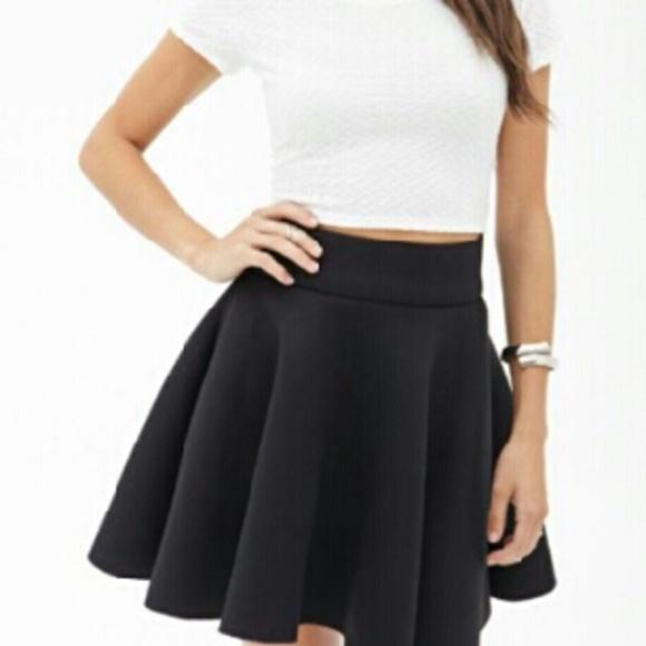 Brandy Melville Skirts   Black Skater Skirt   Poshma