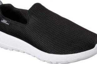 Mens Skechers GOwalk Max Slip-On Walking Shoe - Black/White - FREE .