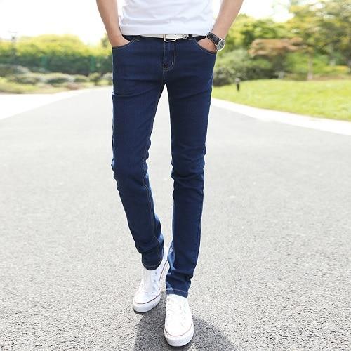 Men Stretch Skinny Jeans Male Designer Brand Super Elastic .