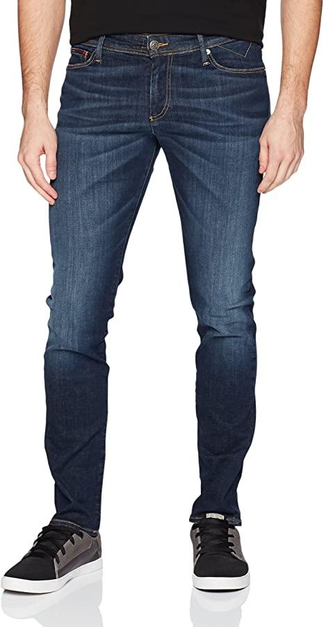 Tommy Hilfiger - Men's Original Simon Skinny Jeans, Chalk Dark .