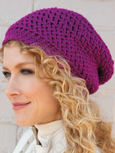 Crochet - Patterns - Crochet World Magazine - Slouchy Beanie .