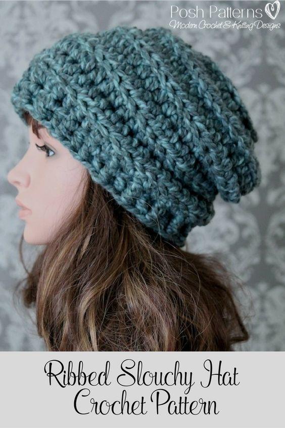 Chunky Crochet Hat Pattern Beehive Slouchy   Chunky crochet hat .
