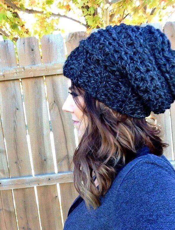The Best Slouchy Hat Crochet Pattern For Beginners + Video Tutoria