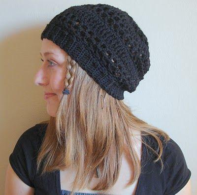 Slouchy Hat   Crochet hat pattern, Crochet adult hat, Crochet ha