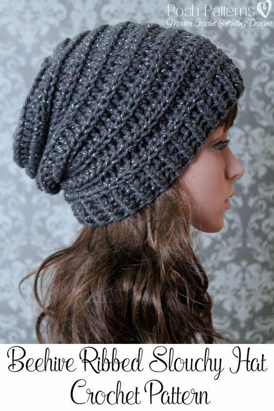 Slouchy Beanie Crochet Pattern