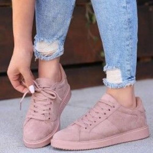 Girly stylish sneakers | Pink shoes outfit, Pink shoes, Mauve sho
