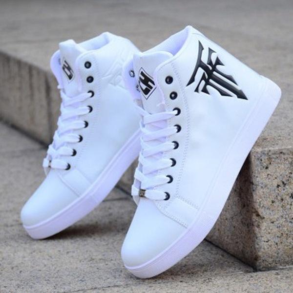 Men High Top Sneaker Shoes Men Sports Shoes Sneakers Skateboard .