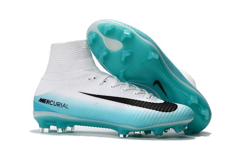 Nike Mercurial Superfly V FG Soccer Shoes Blue Black White on www .
