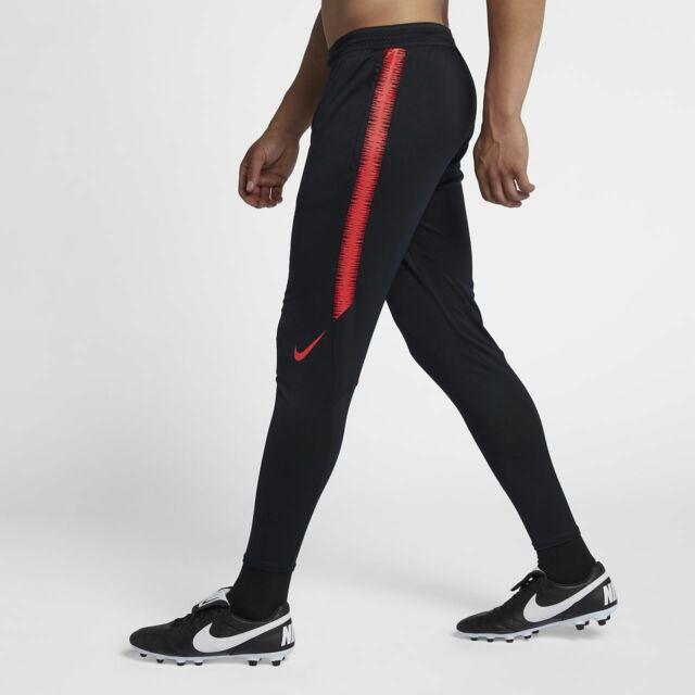 Nike Flex Strike Soccer Pants Colorburst Practice Drill Black Red .