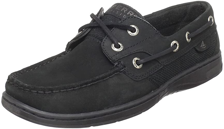 Amazon.com | Sperry Top-Sider Women's Bluefish Casual, Black, 6 M .