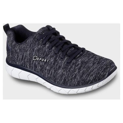 Women's S Sport By Skechers Resplendent Knit Athletic Shoes - Navy .