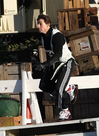 Wearing Brons – Tom Cruise Does His Stunts Sporting LeBron VII's .