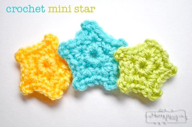 Crochet Mini Star Applique - Free Pattern – My Merry Messy Li