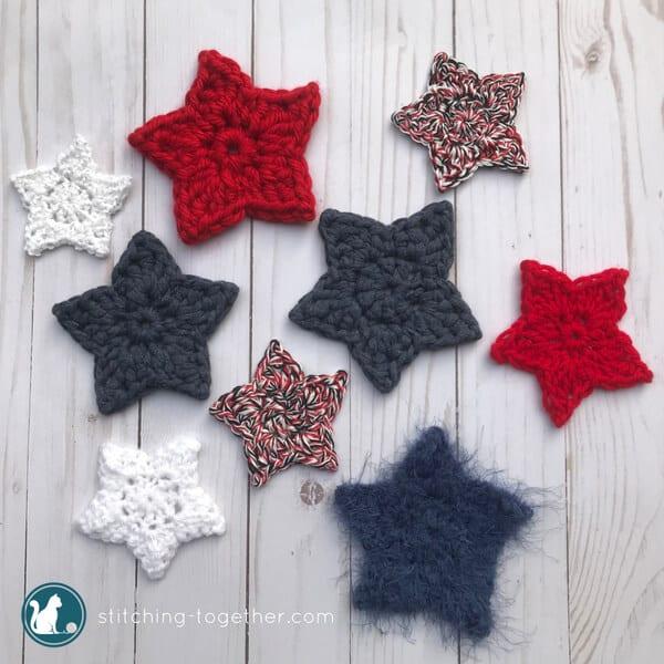 Simple Crochet Star Pattern | Stitching Togeth