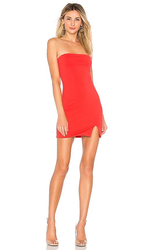 superdown Kiera Strapless Dress in Coral | REVOL