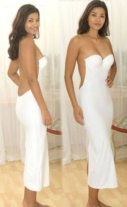 Do you feel vulnerable when wearing strapless/backless dress as .