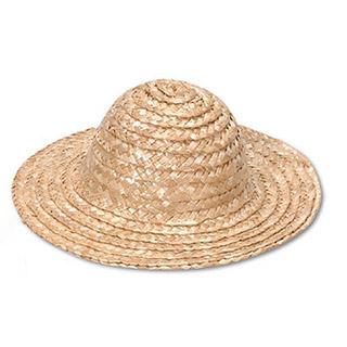 Straw Hat-Round Crown-Natural-9 in