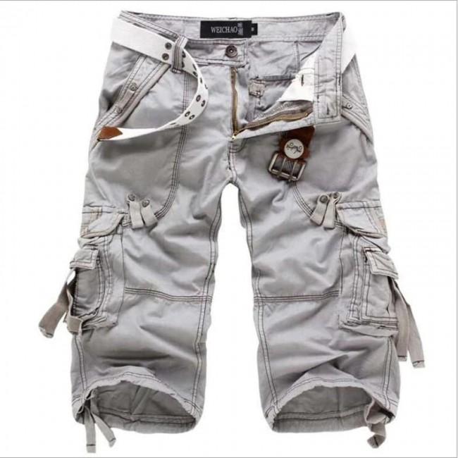 New Brand Summer Camouflage Loose Cargo Shorts Men Camo Summer .