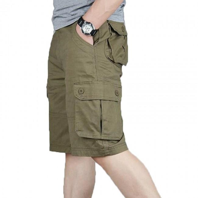 Cargo Shorts Men Summer Casual Pocket Shorts Masculino Men Joggers .