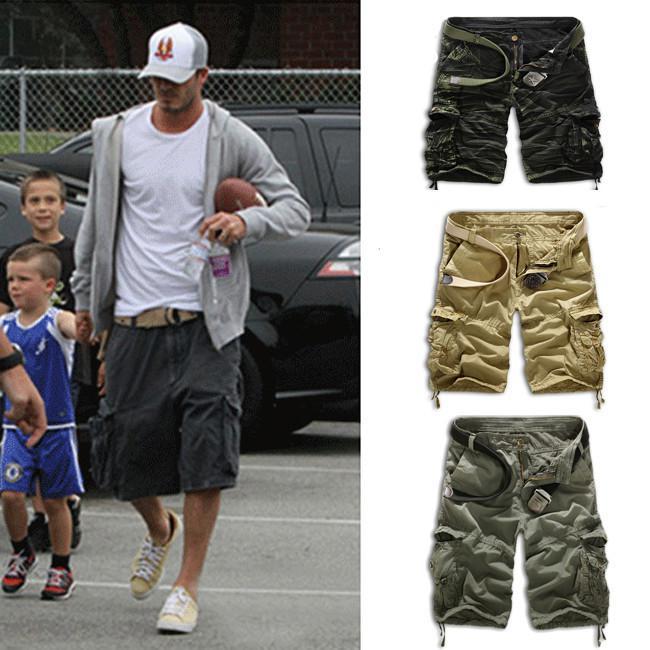 2020 Wholesale Summer Mens Baggy Camo Cargo Shorts Multipockets .