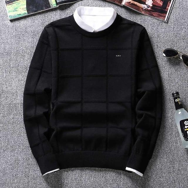 Solid Color Sweaters Men O Neck Pullover Men Long Sleeve Men's Sweat