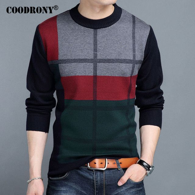 COODRONY Mens Sweaters 2017 Winter New 100% Cashmere Thick Warm .