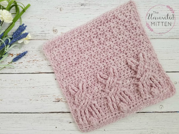 Cute Bunny Square: Free Crochet Cable Pattern | The Unraveled Mitt