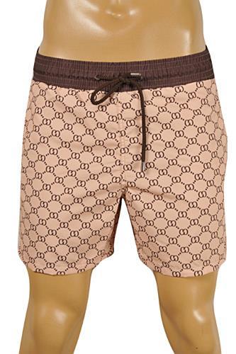 Mens Designer Clothes | GUCCI Logo Printed Swim Shorts for Men #