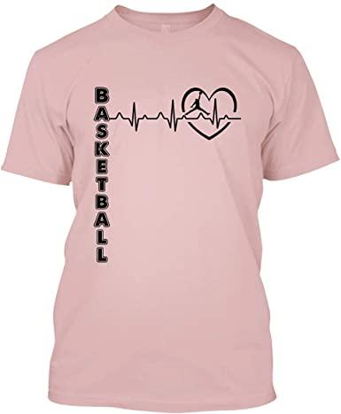 Amazon.com: BigTees Basketball T Shirt - Basketball Heartbeat Cool .