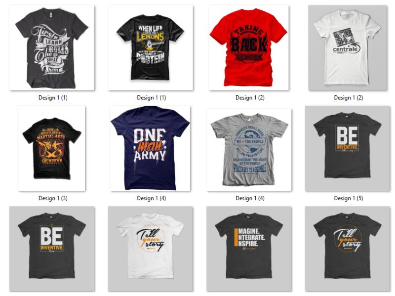 bulk t shirt design by Lesliekimball on Dribbb