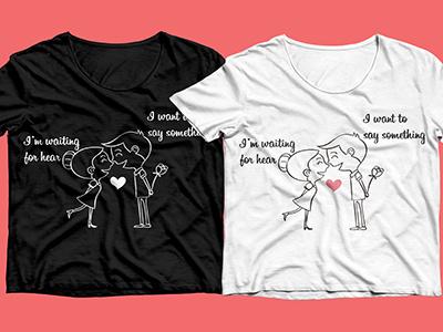 Couple T-Shirt Design by Md. Salman Ali Fahim on Dribbb