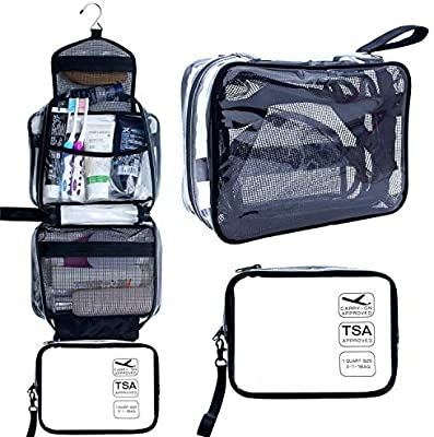 Amazon.com : Hanging Toiletry Bag, Clear Travel Toiletry Bag with .
