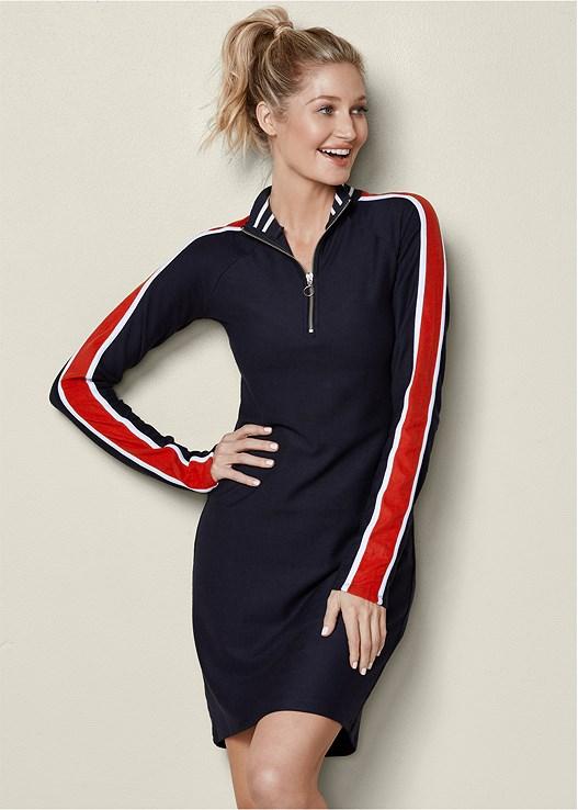 Track Suit Dress in Navy | VEN