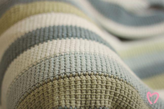 Scrappy Tunisian Crochet Blanket | Tunisian crochet blanket .