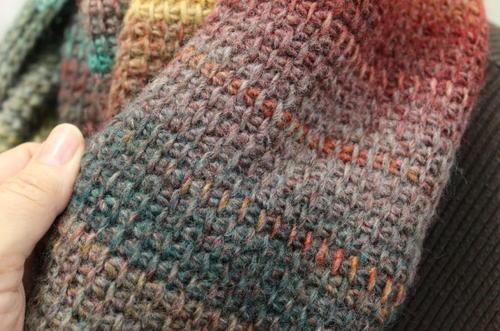 Quick Tunisian Crochet Cowl | AllFreeCrochet.c