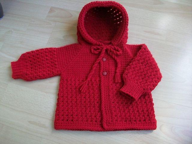 Ravelry: Tunisian crochet Hooded Baby Sweater pattern by Viola .