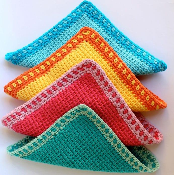 9 Free Tunisian Crochet Patterns for Beginners | My Poppet Mak