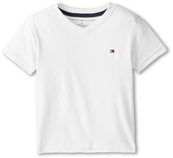 Tommy Hilfiger Kids Tommy Cvc V Neck Tee Boys T Shirt, $18 .