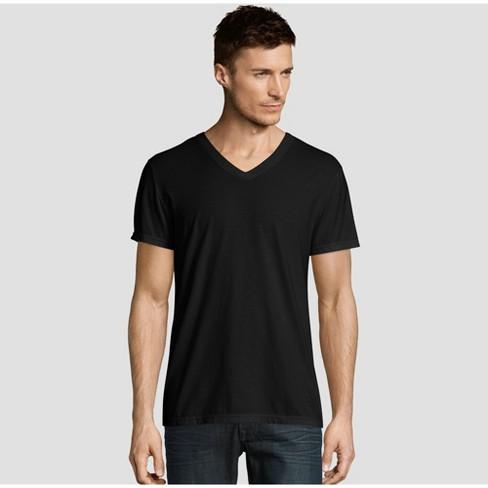 Hanes Premium Men's Short Sleeve Black Label V-Neck T-Shirt : Targ