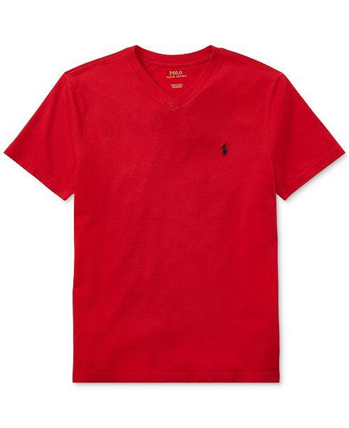 Polo Ralph Lauren Big Boys V-Neck Tee & Reviews - Shirts & Tees .