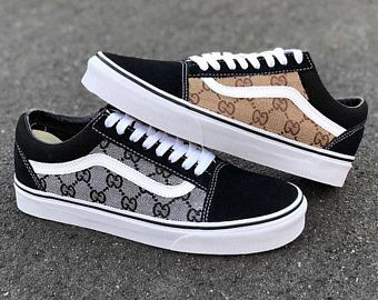 Black/Brown GG Gucci Old Skool Vans Custom (With images) | Fashion .