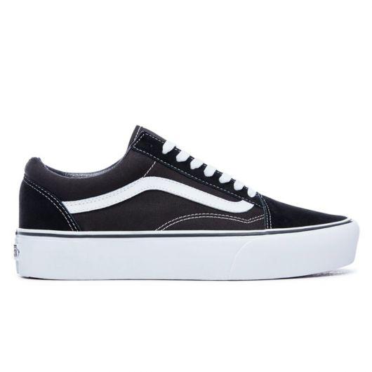VANS Shoes Old Skool (Platform) black white - PLAY Skatesh