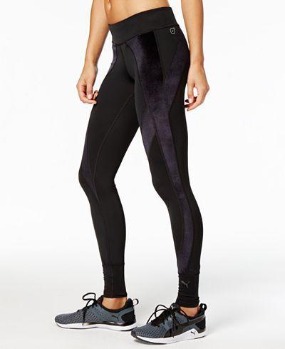 Puma Explosive Velvet Leggings - Pants - Women - Macy's | Velvet .