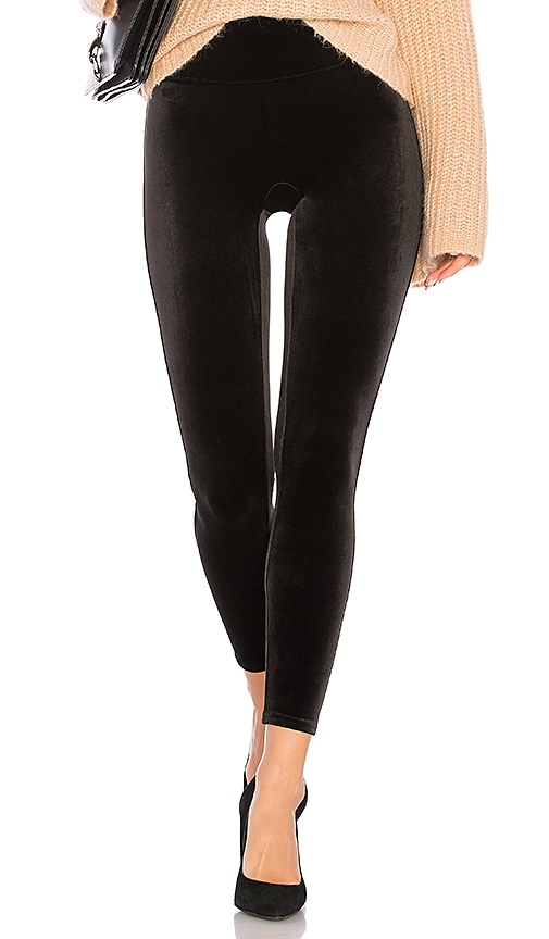 SPANX Velvet Legging in Very Black | REVOL