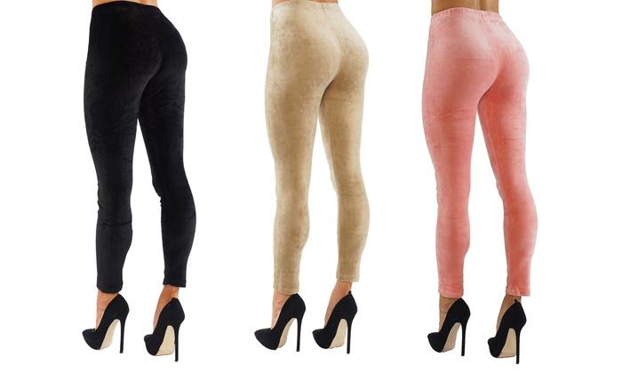 Up To 90% Off on Women's Crushed Velvet Leggings | Groupon Goo