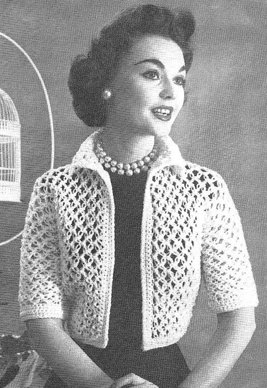Crochet | Crochet jacket pattern, Vintage crochet patterns .