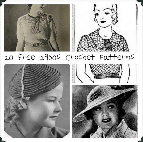 10 Best Free Vintage Crochet Patterns of the 1930s – Crochet .