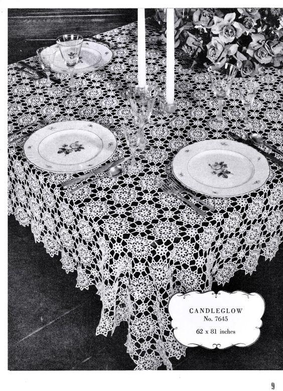 Free Vintage Filet Crochet Tablecloth Patterns | Crochet .